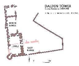 Seaham, Plan of Dalden Tower © Ryder, P 2005