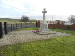 Oblique front right view of Ludworth War Memorial