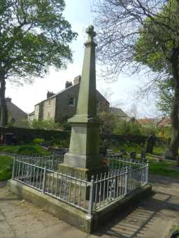 Back of War Memorial Cross, Churchyard of St. John the Evangelist 2016