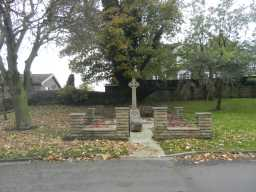 Long shot of front of Iveston War Memorial 2016