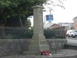 Close up photograph of Helmington Row War Memorial 2016