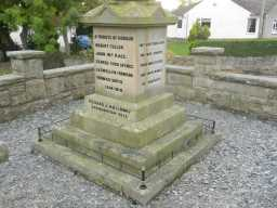 Photograph of right view of Hamsterley War Memorial 2016