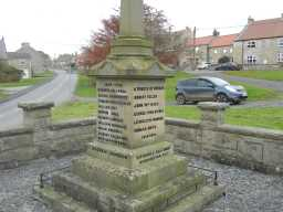 Close up right view photograph of Hamsterley War Memorial 2016