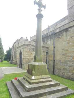 Oblique view of back face of Brancepeth War Memorial May 2016