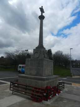 Back left of War Memorial Cross, Consett 2016