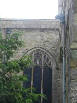 photograph of arched window on St. Mary's Church 2016