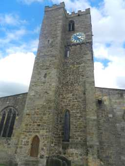 photograph of St. Mary's Church tower 2016