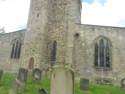 photograph of St. Mary's Church tower and windows 2016