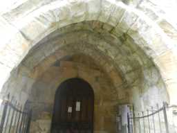Photograph of arched entrance into St. Mary's Church 2016