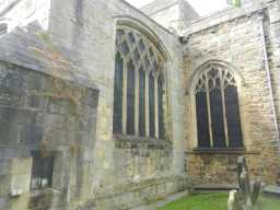 photograph of two windows on St. Mary's Church 2016