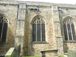 photograph of side windows on St. Mary's Church 2016