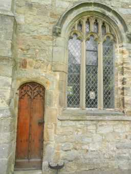 photograph of window and door on St. Mary's Church 2016