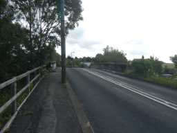 Road view photograph of bridge over Broomside Cutting 2016