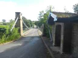 Oblique view of Whorlton Bridge and associated Toll House at NW end May 2016