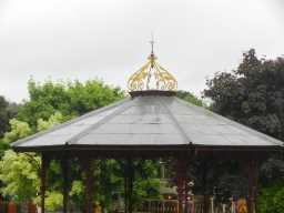 Photograph of roof of Bandstand opposite Ravensworth Terrace 2016