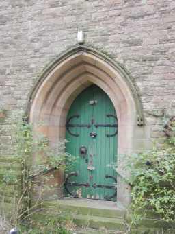 Door of Church of St. Aidan, December 2016 2016