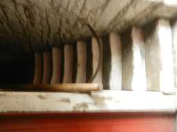 Photograph of stairs inside Farm Buildings at Beamish Hall Farm 2016