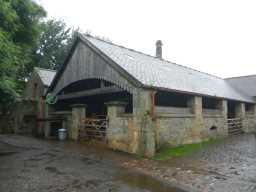 Photograph of side of Beamish Hall Farm building 2016
