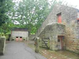 Photograph of entrance at Beamish Hall Farm buildings 2016