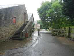 Photograph of steps and entrance at Beamish Hall Farm buildings 2016