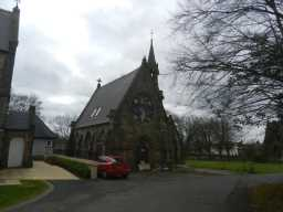 Photograph to left of East Mortuary Chapel of Benfieldside Cemetery 2016