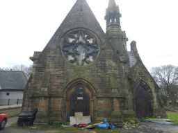 Photograph of front of East Mortuary Chapel of Benfieldside Cemetery 2016