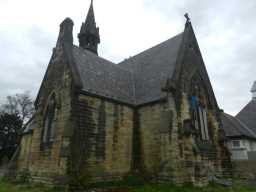Photograph of East Mortuary Chapel of Benfieldside Cemetery 2016