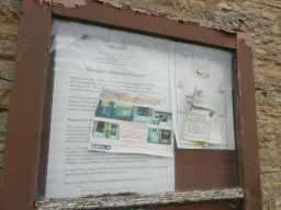 Photograph of Primitive Methodist Chapel notice board 2016