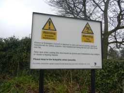 Photograph of warning sign at St. Mary's Church 2016