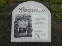 Photograph of Saxon Cross sign at St. Mary's Church 2016