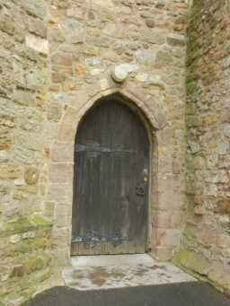 Photograph of door at St. Mary's Church, Easington 2016
