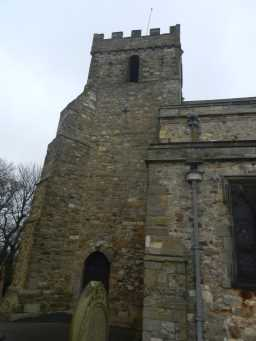 Photograph of tower at St. Mary's Church 2016