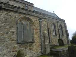 Photograph of arched windows at St. Mary's Church, Easington 2016