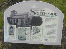 Photograph of South side sign at St. Mary's Church 2016