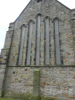 Photograph of windows at back of St. Mary's Church 2016