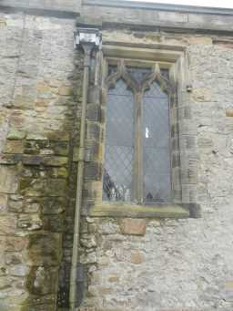 Photograph of square window at St. Mary's Church 2016
