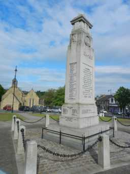 War Memorial Cenotaph,behind railings Town Centre, Crook 2016