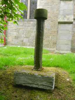 Cross at St Philip & St James' Church, Witton-le-Wear, full view 2016
