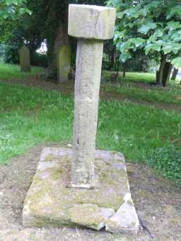 Cross at St Philip & St James' Church, Witton-le-Wear from side nearer church 2016