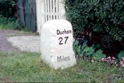 Milepost A67 opp Bowes Gate Cottages (photograph) 07/1973