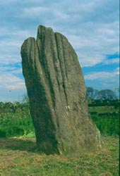 Bronze Age standing stone at Matfen (Northumberland)