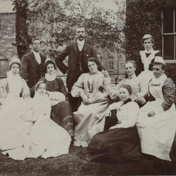The staff of Lanchester Workhouse, c.1900 (D/Ph 429/1)