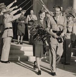 Military wedding in Cairo, Egypt,1942 (D/DLI 2/1/280(340)