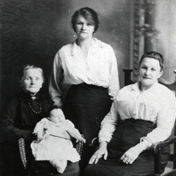 Four generations of the Holmes family, South Hetton, 1923 (People Past and Present sout0081)