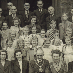 German children on a visit to Station Town (image courtesy of David Inch)